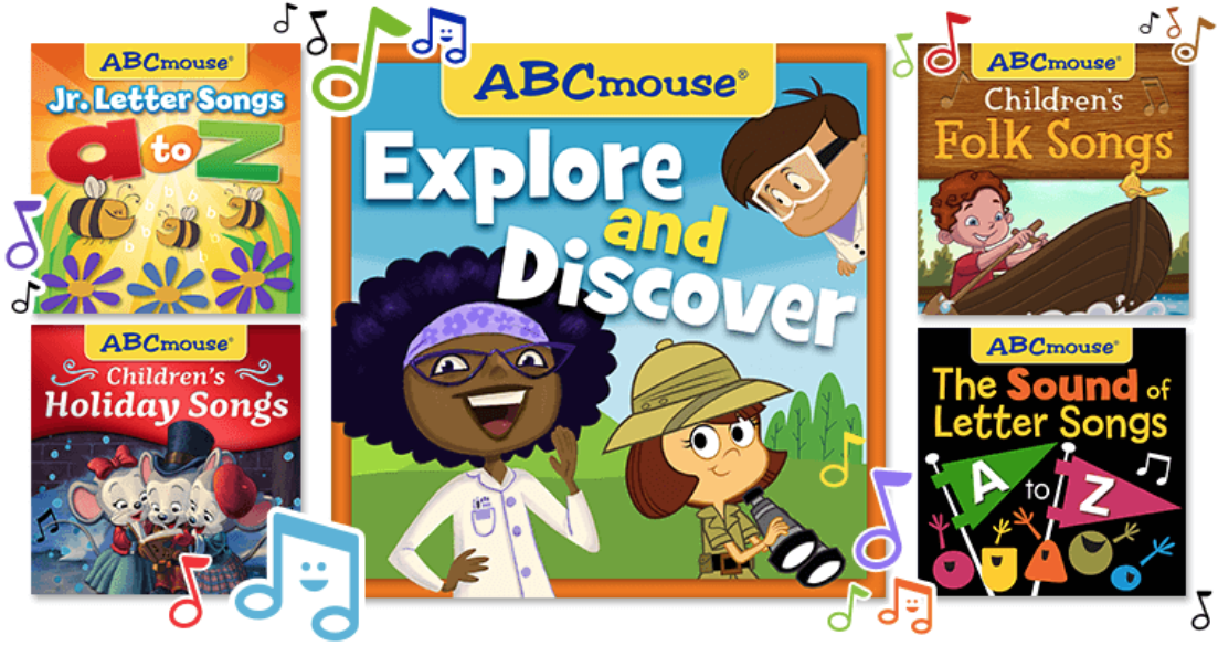 New: ABCmouse Streaming Songs on Spotify, Apple Music, Amazon, Pandora, and Google Play