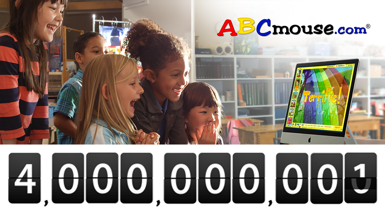Age of Learning Celebrates 4 Billion Complete Activities on ABCmouse