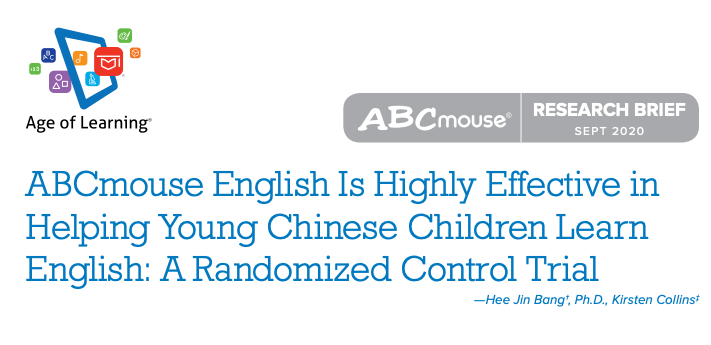 ABCmouse English Is Highly Effective in Helping Young Chinese Children Learn English: